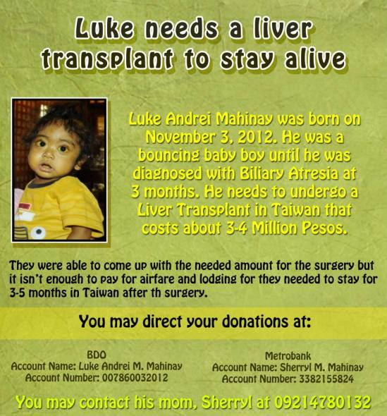 HE NEEDS A LIVER TRANSPLANT TO STAY ALIVE.