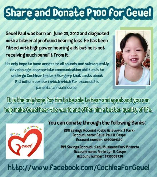 Help Geuel Receive the Gift of Hearing